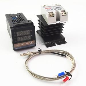 Image 5 - REX C100 rex c100 digital pid controlador de temperatura termostato + 40da ssr relé + k termopar rkc 0 900c