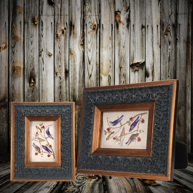 New Arrival Wood Wall Table Frame Artifacts Window Decor Wooden