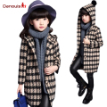 New Fashion Plaid Coat Trench Windbreaker Jacket  2017 Brand Children Kids Brand European Style Hoodies Girls Coat Jackets