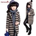 New Fashion Plaid Coat Trench Windbreaker Jacket  2017 Brand Children Kids Brand European Style Hoodies Girls Coat Jackets