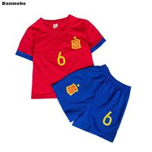 fcc2aa21fff5e Danmoke niños Kit de fútbol Jerseys uniformes Futbol traje entrenamiento  deportivo Jersey Camisas Pantalones cortos(