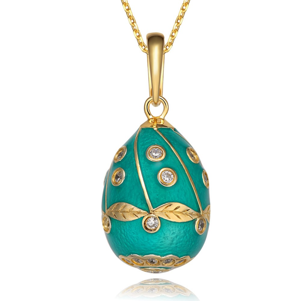 YAFFIL 2019 Women Luxury Pendants Really 925 Sterling Silver Jewelry Vintage Egg Pendant Charm Crystal Necklace For Women 23878