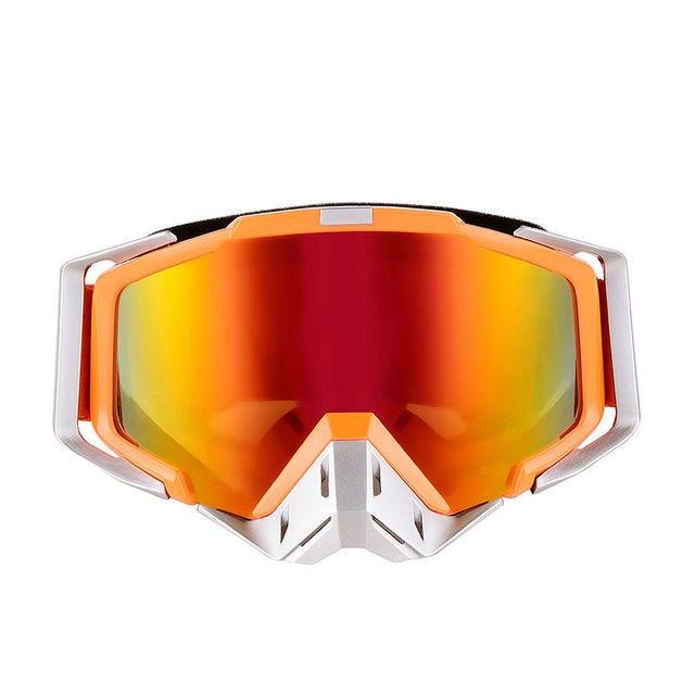 2016 de la alta calidad de orange adultos motocicleta protector off-road moto dirt bike mtb downhill motocross gafas joven vidrio