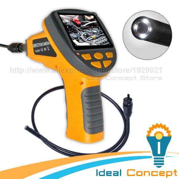 3.5inch TFT LCD Inspection Camera 10mm Borescope Pipe Car Video Endoscope Industrial Portable вешалка sheffilton стандарт 1 4 серебро перлато серый 3 штуки