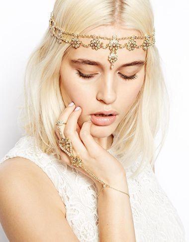 2018 Pearl Tassel Flower Stretch Headband Hair Band Wedding Accessories Crystal Bridal Hair Accessories Head Chain Hair Jewelry 1