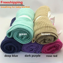 Baby Blanket Newborn Summer Breathable Cotton Sleeping Kids Car/Crib Simple Casual Hole Wrap Swaddling Blankets