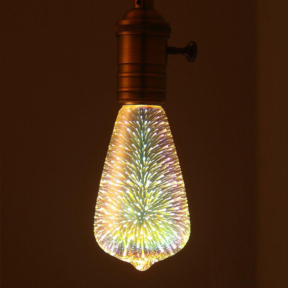 Colourful Led Light Bulb 3D Decoration Bulb Holiday Lights Novelty Christmas Lamp Lamps 110V 220V E27