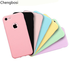 hot deal buy for iphone 5 6s phone case soft tpu cover for iphone 7 8 plus x plain back cover for iphone x xs max xr candy colour cases cover