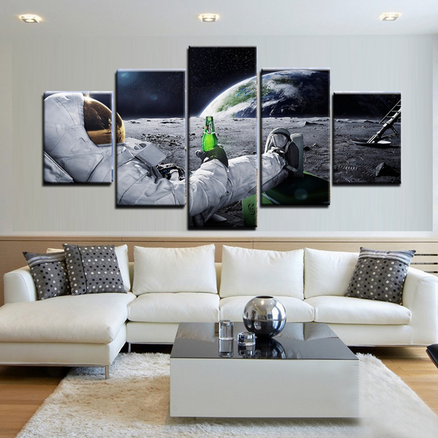 Aliexpress.com : Buy Canvas Poster Astronaut on the Moon ...