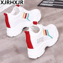 XJRHXJR 2019 Fashion Sneakers Women Casual Shoes Ulzzang Shoes Suede Ladies Casual Shoes Large Size 35-40 Flat Chaussures Femme