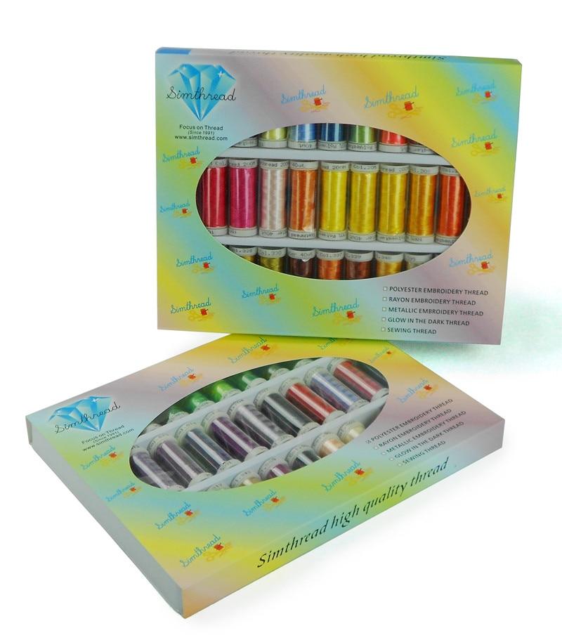 Simthread 63 형제 색상 시리즈 폴리 에스터 컴퓨터 기계 자수 스레드 형제 janome 300 m * 63/키트-에서실부터 홈 & 가든 의  그룹 1