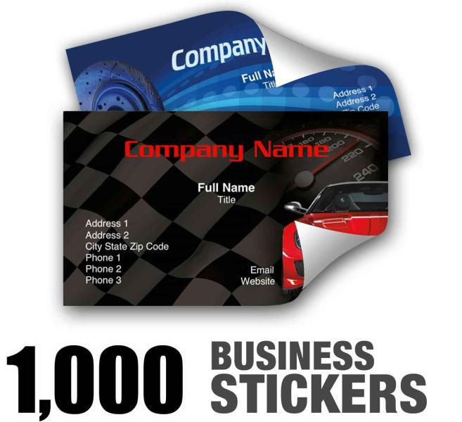 1000pcs custom waterproof business card stickers 70 label uv coat full color printing free shipping in business cards from office school supplies on