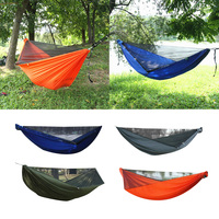 1 Person Outdoor Camping Hammock Tent Hanging Bed with Mosquito Net 210T Nylon Travel Hanging Bed Hunting Sleeping Swing