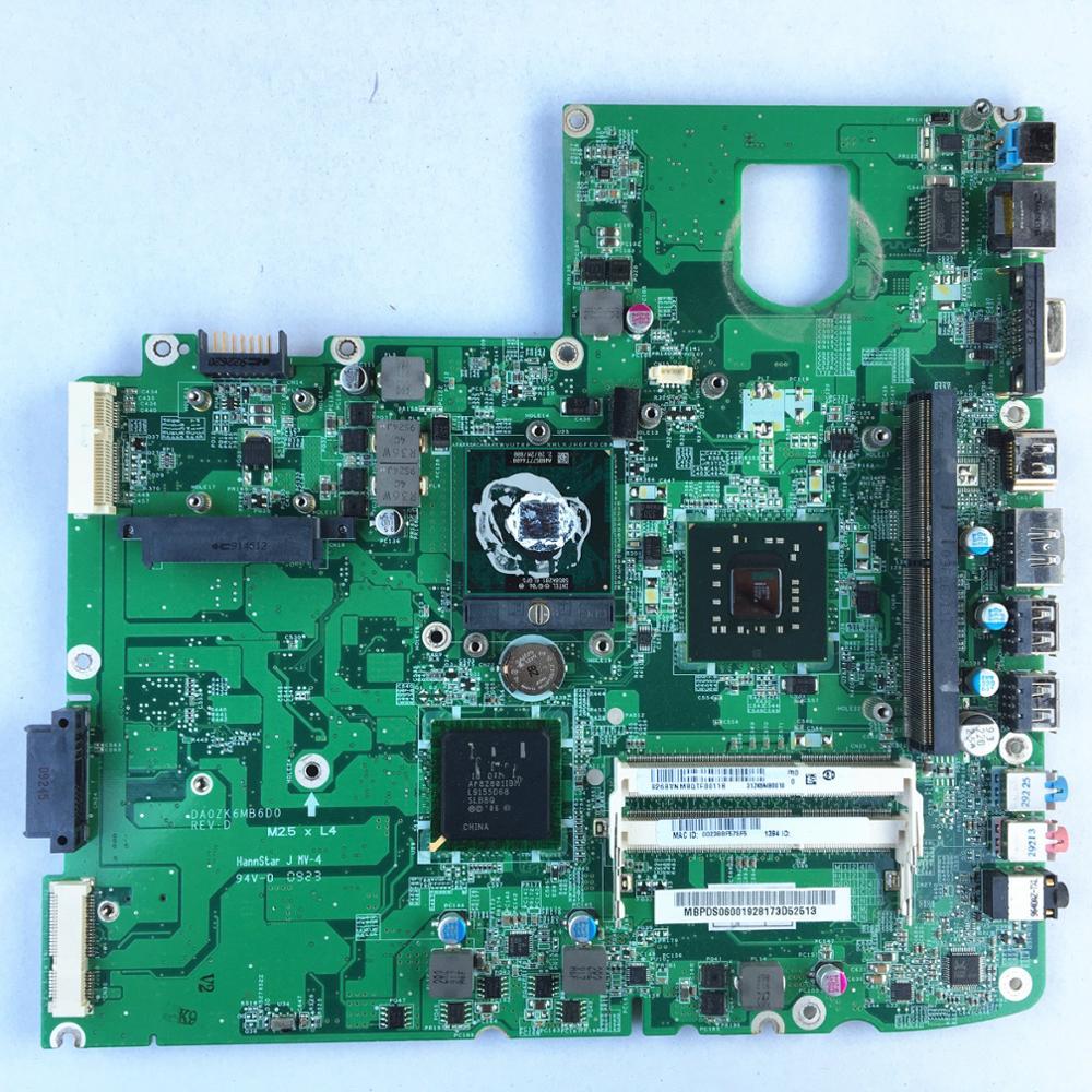 For ACER 5739 5739G Laptop Motherboard DA0ZK6MB6D0 Ddr3