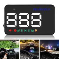 A5 3.5 Inch 12V Car Head Up Display Windshield Car HUD Projector Speedometer Overspeed Warning GPS Satellite 2 Display Mode