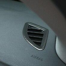 Углеродного волокна автомобилей AC воздуховод передней панели Обложка отделка наклейка для BMW X1 F48 20i 25i 25le-2019X2 F47 аксессуары Тюнинг автомобилей
