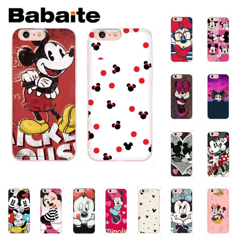 Babaite <font><b>Mickey</b></font> Minnie Newly Arrived <font><b>Coque</b></font> Shell Phone Case for <font><b>iPhone</b></font> X XS MAX <font><b>6</b></font> 6s 7 7plus 8 8Plus 5 5S SE XR 10 Case image