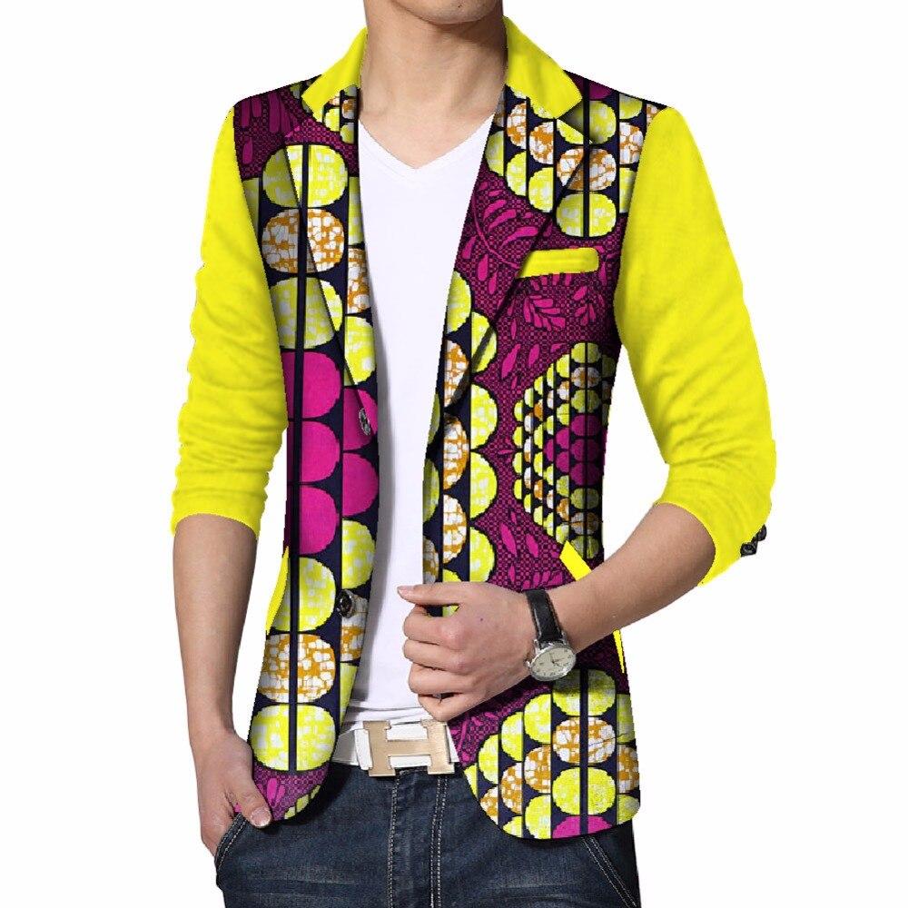 Personnalisé Dashiki hommes africain imprimé vêtements hommes Blazer costumes décontractés veste hommes vestes grande taille vêtements africains ATN133 - 4