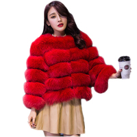 Winter Women Vintage Fluffy Short Faux Fur Coat Female Fake Fox Outerwear Coat Plus Size 3XL Casual Evening Party Overcoat X68