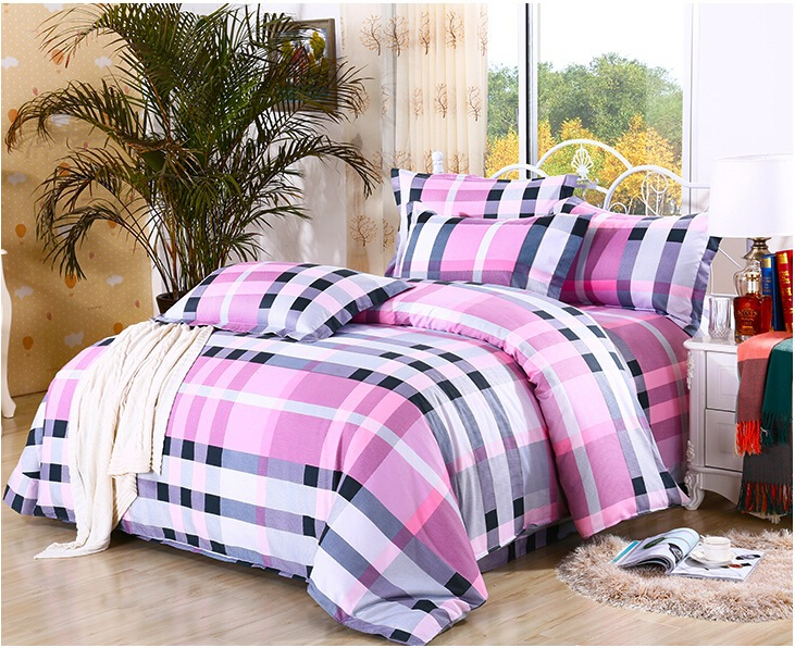 Simple Stripe Queen King Size Pure Cotton Bed Sheets Luxury Bedding Set  Bedclothes For Girl Women HT007 In Bedding Sets From Home U0026 Garden On  Aliexpress.com ...