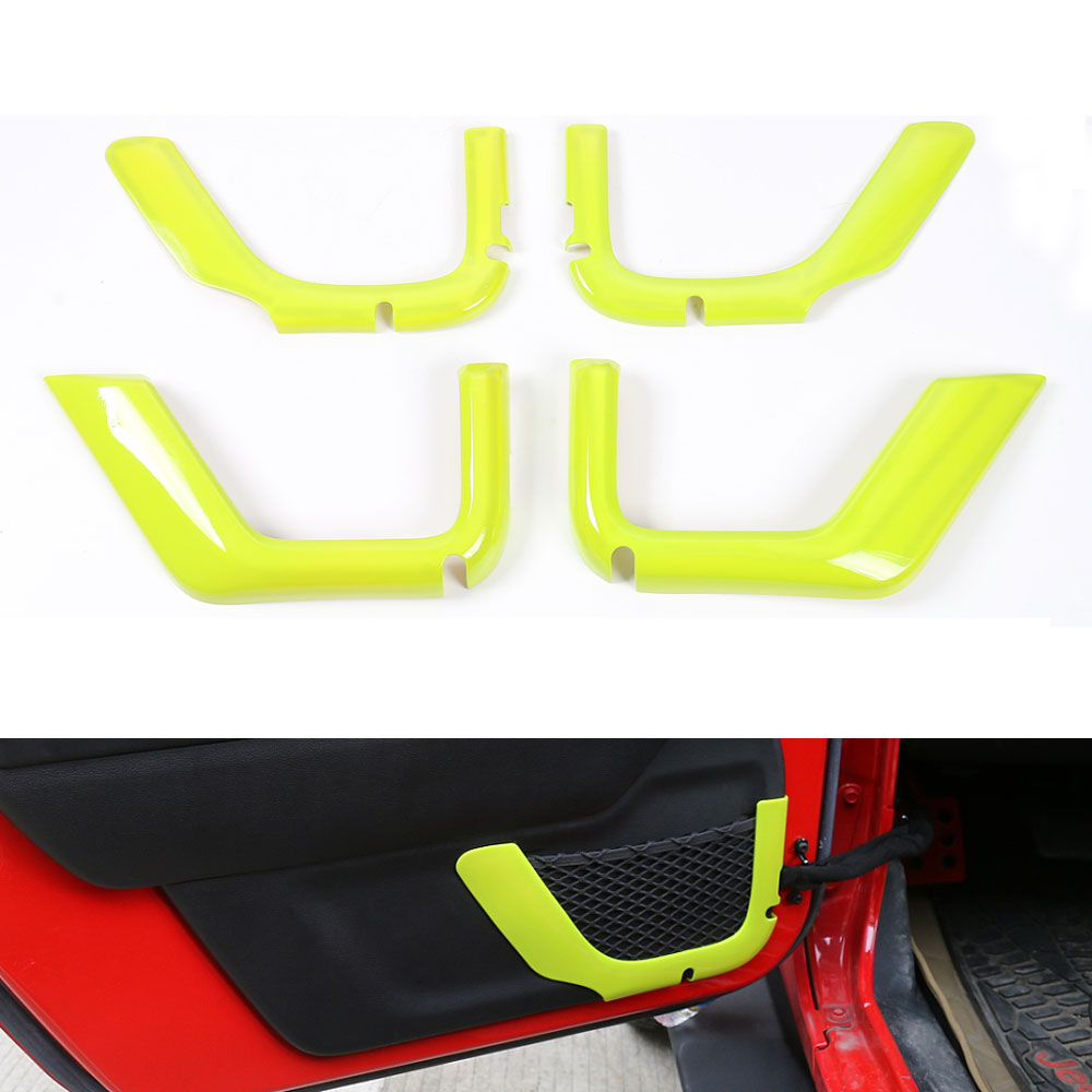 4Pcs/set 4Door Car Chrome ABS Door Storage Cover Trim Frame Decoration Fits For Jeep Wrangler JK 2007-2016 Car Styling Covers excellent 4pcs set chrome plated door handle covers car sticker for volkswagen vw sagitar car styling door handle chrome sticker