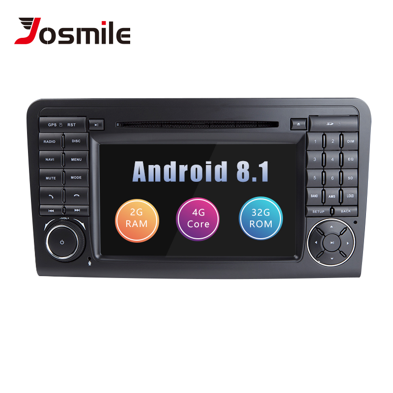 Josmile 2 Din Android 8 1 Car DVD Player For Mercedes Benz ML GL CLASS W164
