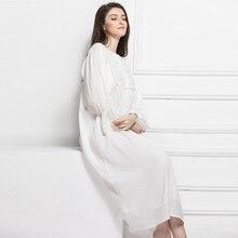 Nightwear 100% cotton S-L bust 90-102cm Night Gown Camisola De Dormir Feminino Nuisette Femme 918