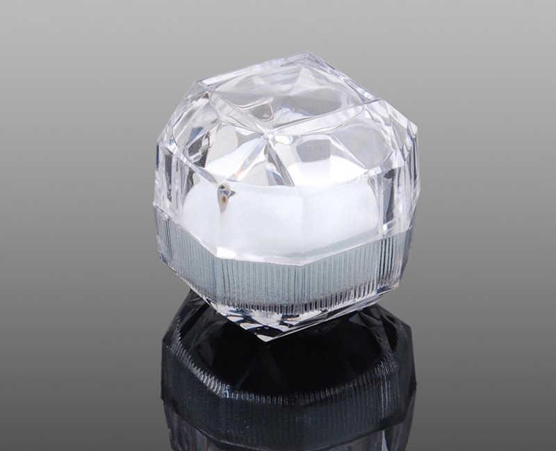 Бесплатная доставка 20 шт/партия Горячая продажа упаковка для ювелирных изделий Кольцо коробка для сережек акриловая прозрачная Свадебная Упаковка для ювелирных изделий