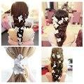 Mulheres Flor Do Casamento Coroa tiara de noiva coroa de flores meninas flor cabeça flor de cabelo Acessórios Do Cabelo Do Casamento coroa de Louros