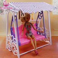 UCanaan Miniature Swing Doll Furniture Accessories DIY Toy Safety Plastic Assembly For Over Three Years Old