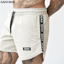 GANYANR Running Shorts Men Gym Sport Basketball Athletic Leggings Soccer Tennis Volleyball Training Fitness Crossfit Sexy Pocket