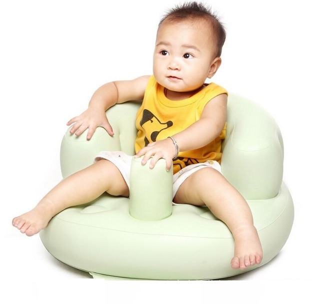 Kids Inflatable Feeding Chair Baby Sitting Bean Bag Sofa Seat High Quality Self Inflated