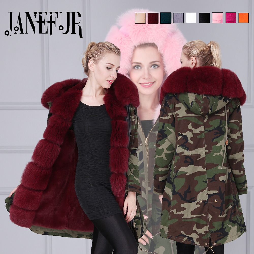 Winter Women Luxury Thick Down Jacket Parka Super Long Real Fox Fur Collar Coat Cuff and Trim