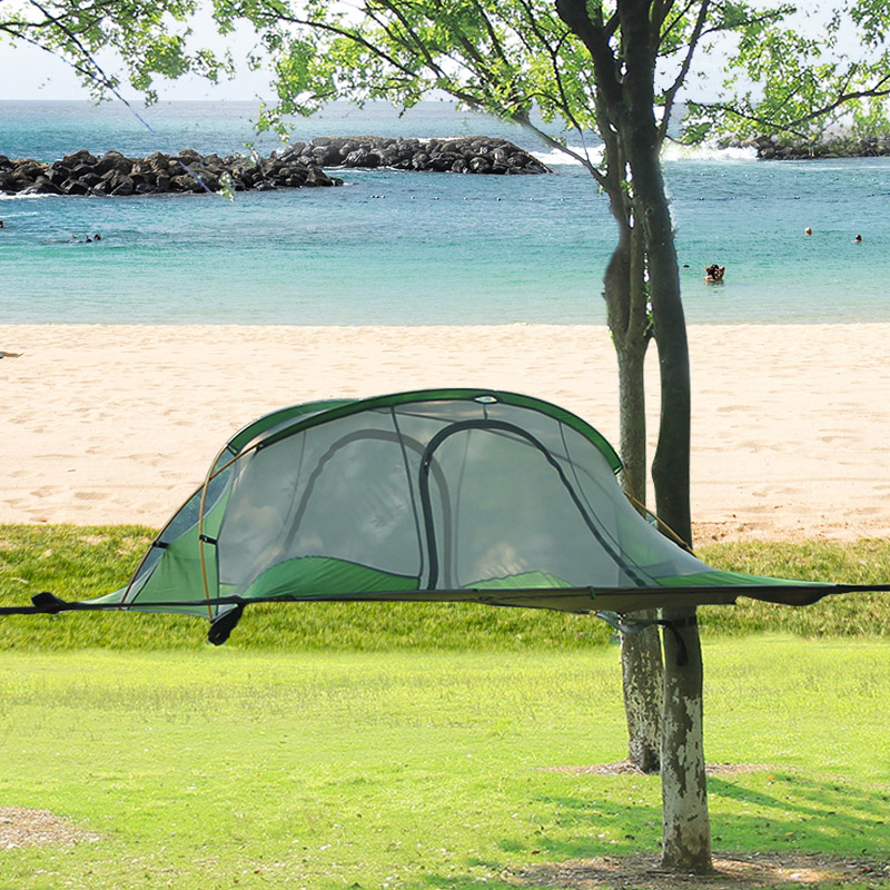Imperméable suspendu arbre tente suspendus arbre maison Camping hamac 4 saison tente ultralégère pour randonnée sac à dos 220*200 cm