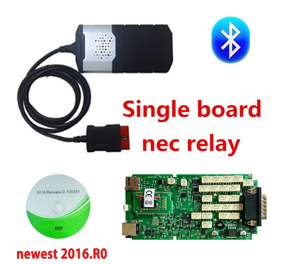 DHL Best Single board New relay Bluetooth for delphis vd ds150e cdp 2016.0 R0 with keygen Autocoms Multidiag pro+-in Car Diagnostic Cables & Connectors from Automobiles & Motorcycles on
