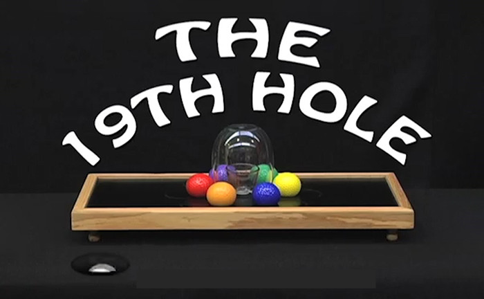 The 19th Hole Stage Magic Tricks New Hole In One Gimmick Illusions Professional Magician Magia Toys Props Ball VanishingThe 19th Hole Stage Magic Tricks New Hole In One Gimmick Illusions Professional Magician Magia Toys Props Ball Vanishing