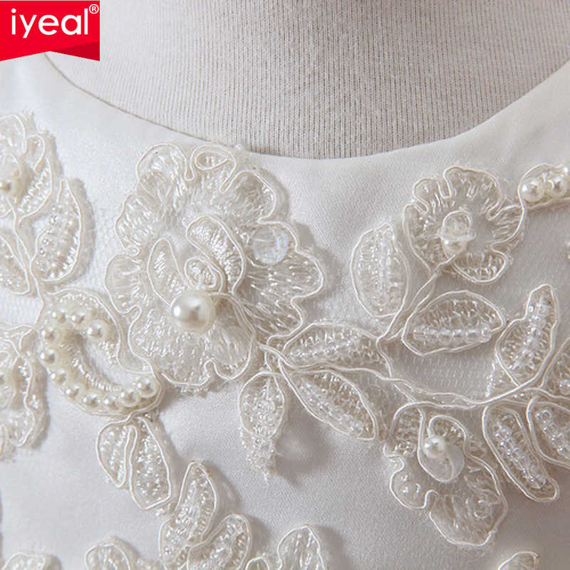 bfec54ff243 ... IYEAL Newborn Baby Christening Gown Infant Girl s White Princess Lace  Baptism Dress Toddler Baby Girl Chiffon ...
