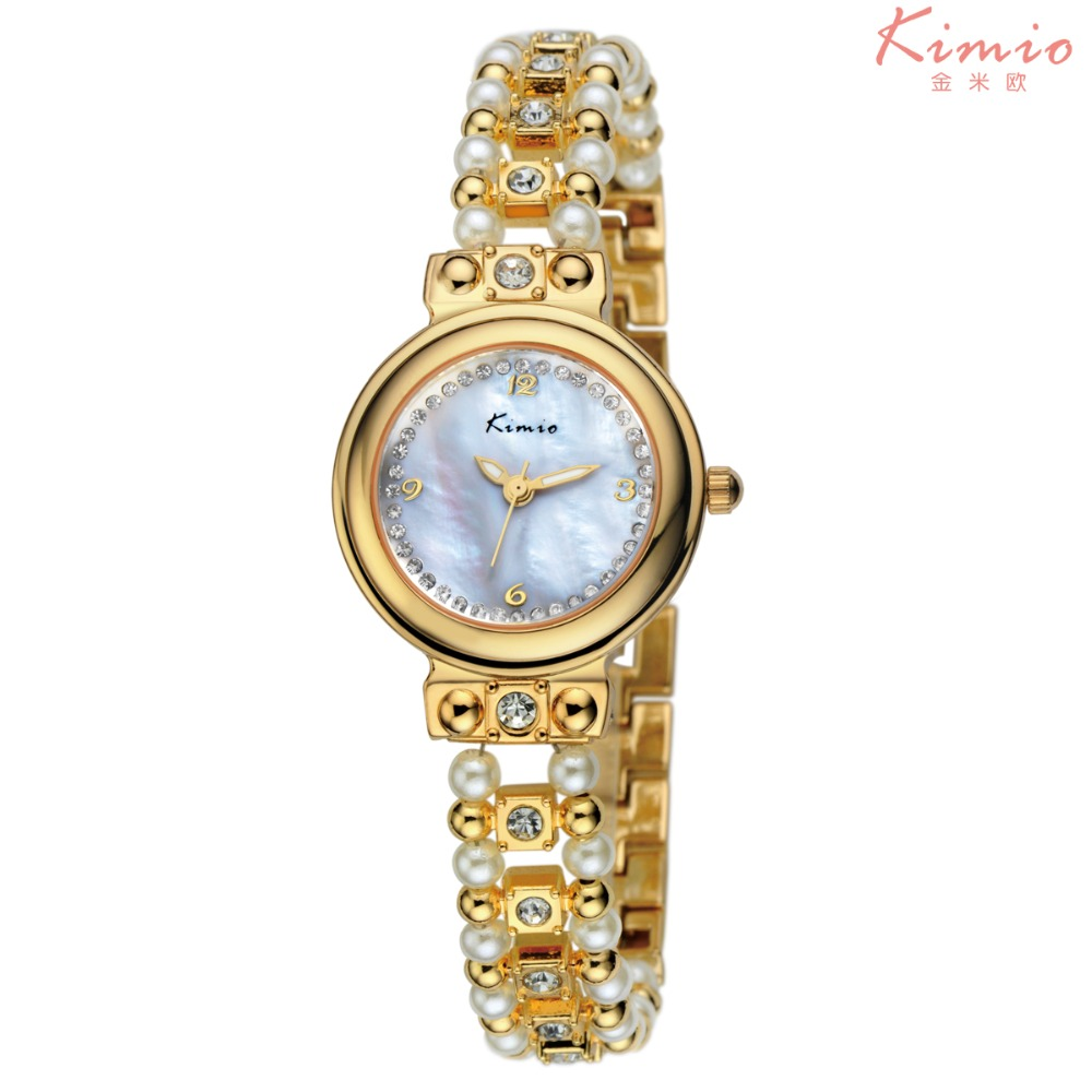 все цены на 2016 Kimio top brand luxury watches women pearl strap fashion ladies bracelet analog quartz wristwatches relogio feminino clock онлайн