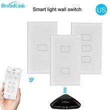 "2019 Broadlink TC2 ארה""ב/AU גרסה 1 2 3 כנופיית WiFi בית אוטומציה חכם שלט רחוק Led אור Switche מגע פנל באמצעות RM Pro +"