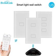 2019 Broadlink TC2 US/AU versione 1 2 3 Gang WiFi Home Automation Prodotti e Attrezzature Smart per il Controllo Remoto Ha Condotto La Luce Interruttori del Pannello A Sfioramento via RM Pro +