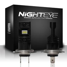 Nighteye h7 светодиодные фонари автомобилей Фары для автомобиля свет 12 В автомобиля 1600lm 80 w/set 6500 К с csp светодиодных чипов лампа белого автомобиля лампы Противотуманные огни