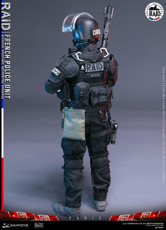 เขื่อน DAMTOYS 1/6 Soldier Action Figure ภาษาฝรั่งเศสคำตำรวจหน่วย RAID ในปารีส Collection ตุ๊กตารูปตุ๊กตา-ใน ฟิกเกอร์แอคชันและของเล่น จาก ของเล่นและงานอดิเรก บน   2