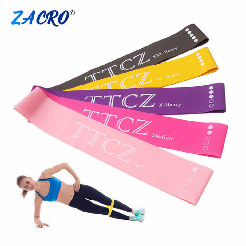 60cm Yoga Resistance Rubber Bands Indoor Outdoor Fitness Equipment Pilates Sport Training Workout Elastic Bands 0.5mm-1.3mm #2