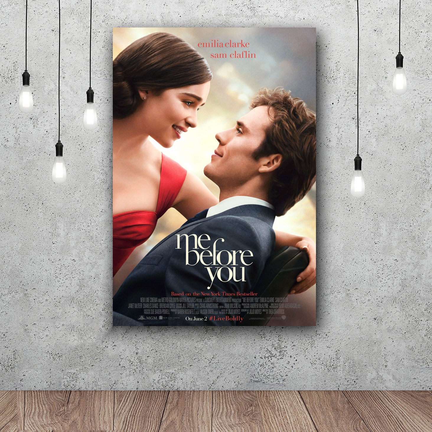 Me Before You Movie Art Silk poster Home Decor 12x18 24x36inch ...