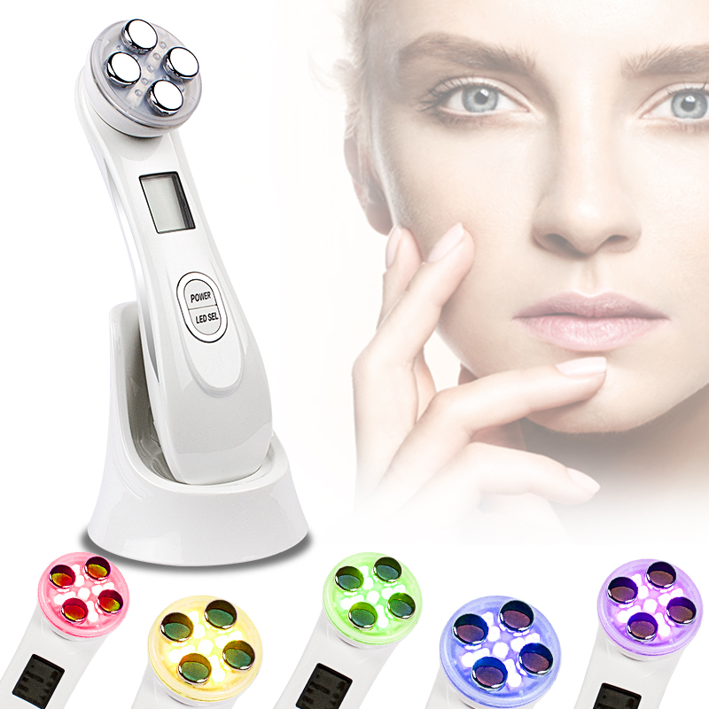 5 in1 RF&EMS Radio Mesotherapy Electroporation Face Beauty Pen Radio Frequency LED Photon Face Skin Rejuvenation Remover Wrinkle