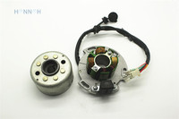 8 Coils Magneto Stator with Magneto rotor fit for LIFAN 150CC 140cc engine
