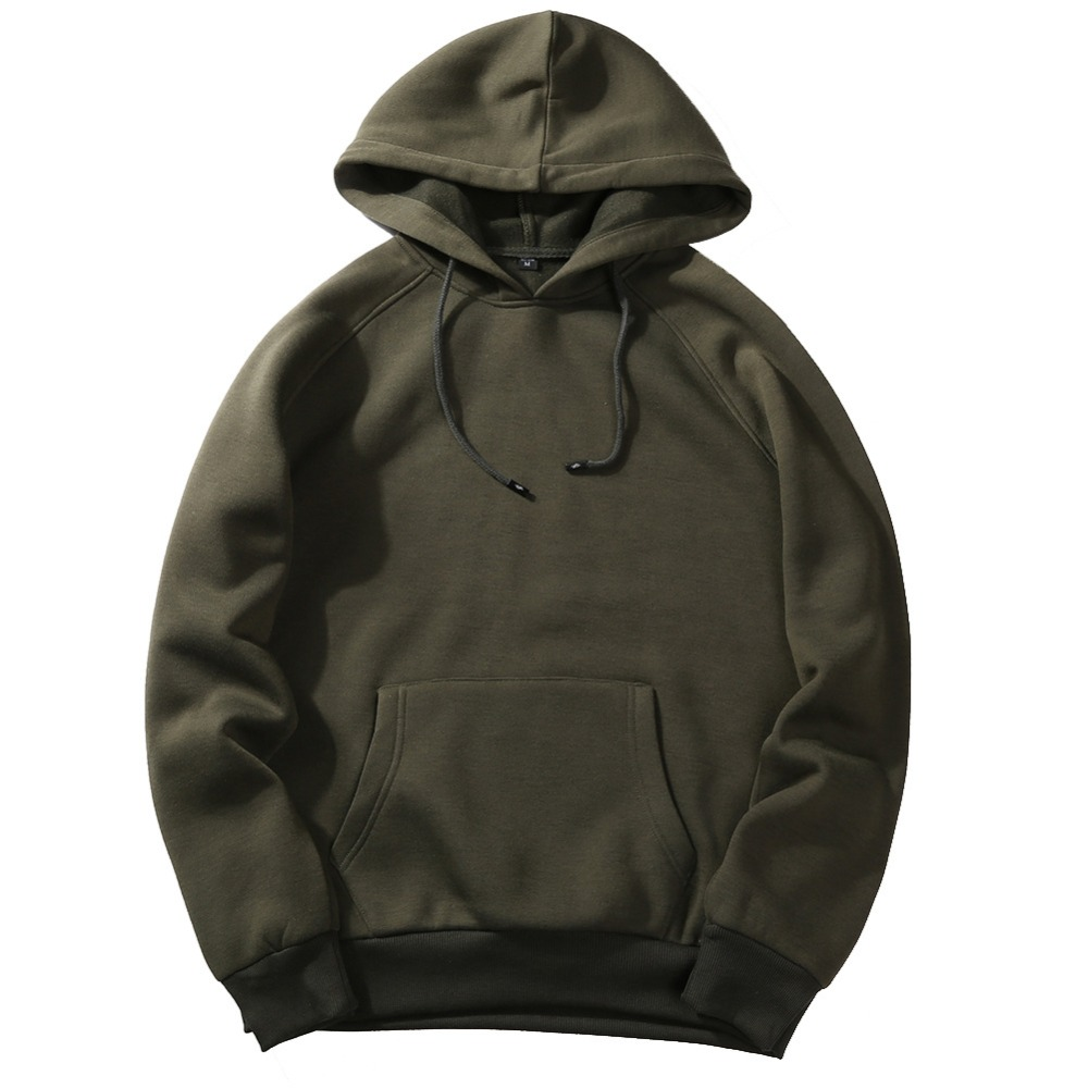 2020 Autumn Fashion Hoodie Male Warm Fleece Coat Hooded for Men 2