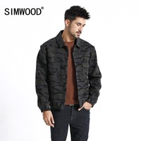 SIMWOOD New 2020 spring Jacket Men Casual Print Camouflage Jackets Windbreaker Fashion Brand Coats High Quality Outerwear 180587