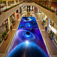 Bild in bild Boden 3D Wallpaper Kundenspezifische Wandbilder PVC Planeten Starry STERNE tapeten Wohnzimmer Bodenbelag Tapete Gute 291