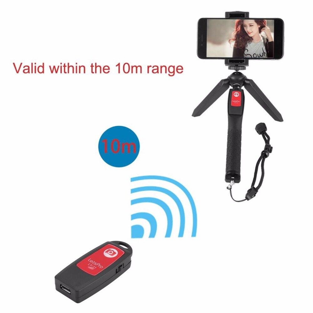 Selfie Stick Tripod Stand 4 in 1 Extendable Monopod Wireless Shooting Phone Mount Tripod Sports Camera Bracket with 10M Range